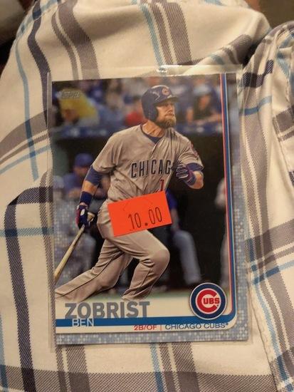 Topps Zobrist Ben Chicago Cubs