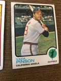 Vada Pinson California Angels Outfield Baseball Card