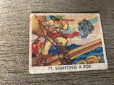 1936 Pirate Picture Gum  71. Sighting A Foe Pirates Picture Bubble Gum