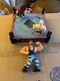 WWE Wrestling lot Bushwhacker figure and Game
