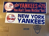 Vintage New York Yankees 1970+IBk-s Bumper Stickers