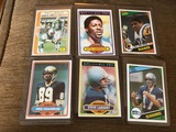 6 Vintage Football cards