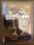 Topps Finest Maikel Franco Phillies Gold Refractor 50 made