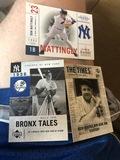 3 Card Lot Upper Deck New York Don Mattingly, Bronx Tales, Ruth