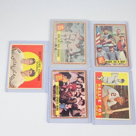 5 Vintage Topps Baseball Cards Group 10