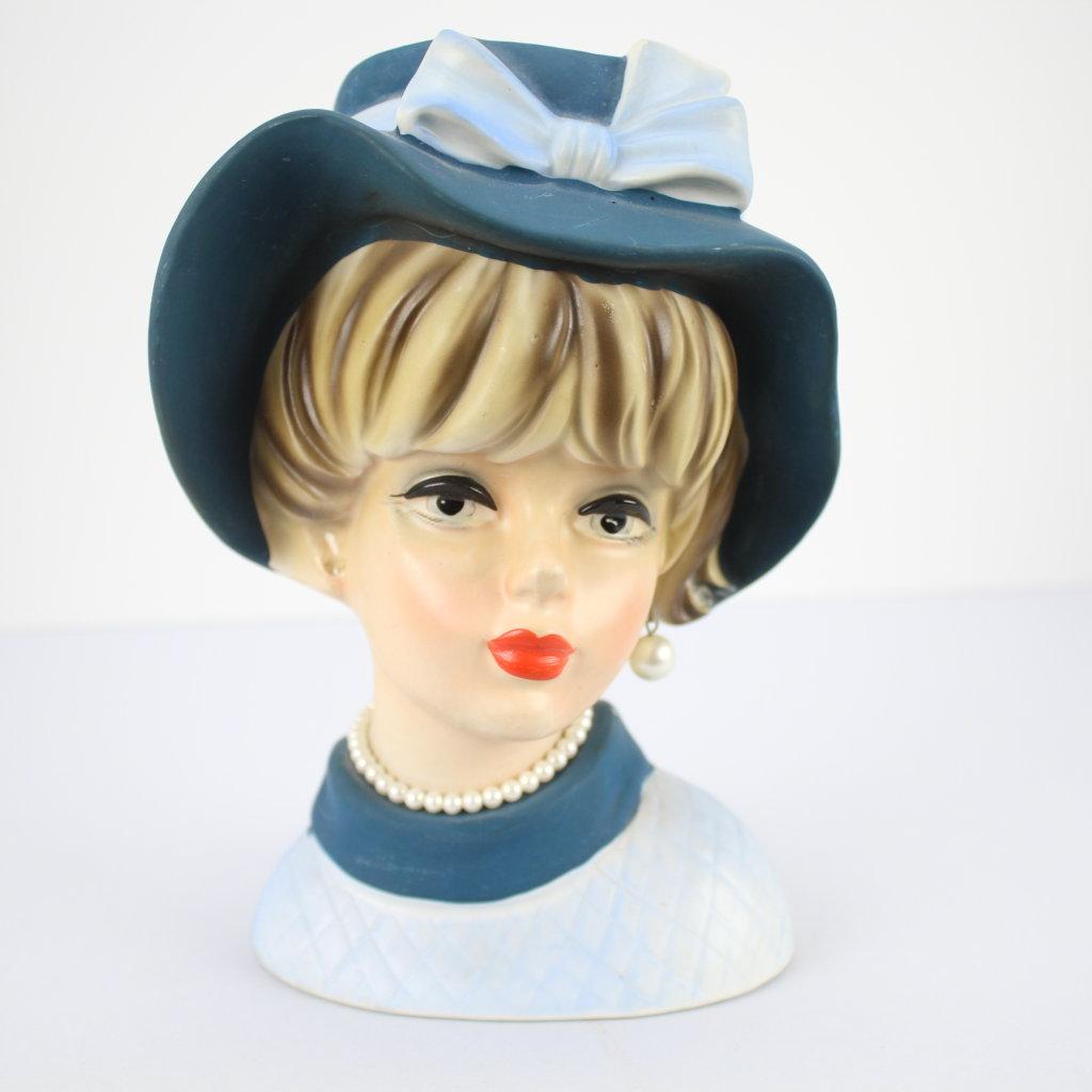"""Vintage Napcoware c7495 Lady Head Vase 7 & 1/4"""""""