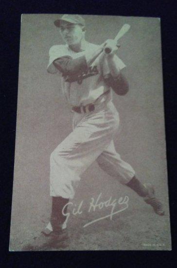 1947 66 Exhibit Baseball Card Gil Hodges Art Antiques