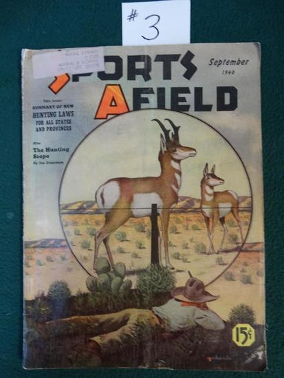 Vintage Sports Afield Magazine September 1940