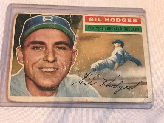 1956 Topps Gil Hodges Baseball Card