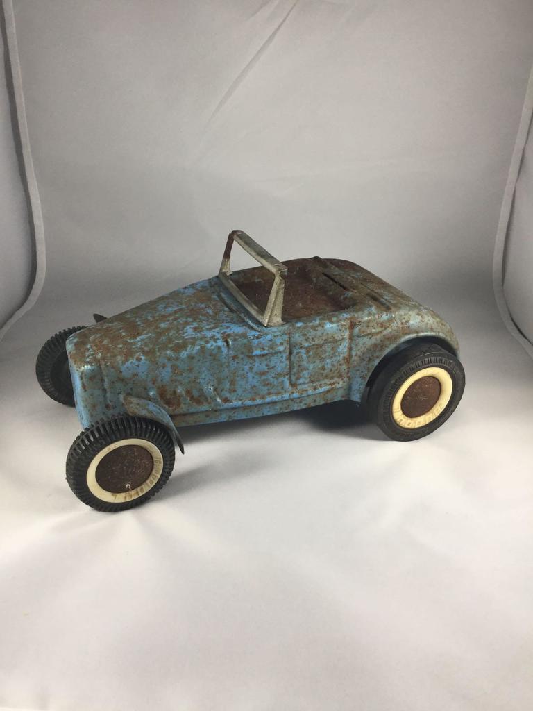 Vintage Buddy L Pressed Steel Toy Roadster Bank