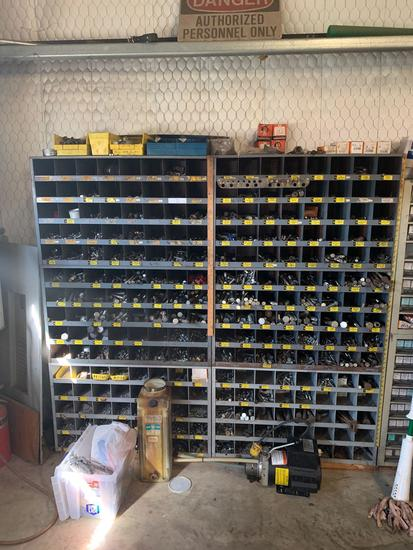 Lot of Bolts & Bins