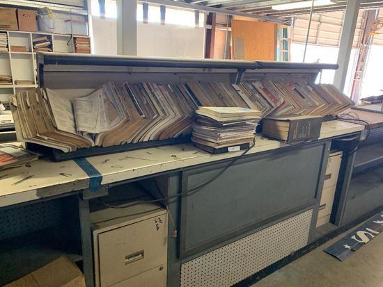 Lot of Automotive Repair Books W/ File Holder