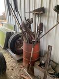 Barrel and tools.