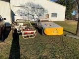 Pair of race car chassis.