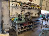 Workbench W/ Tools & Automotive Machinery