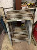 Lot of Folding Shop Table Bodies