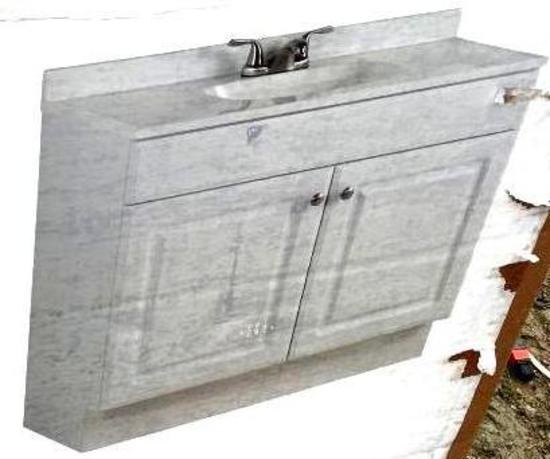 "Vanity w/ Top 36"" x 24"" x 19""- Bark Finish & Vanity 36"", w/ No Top"