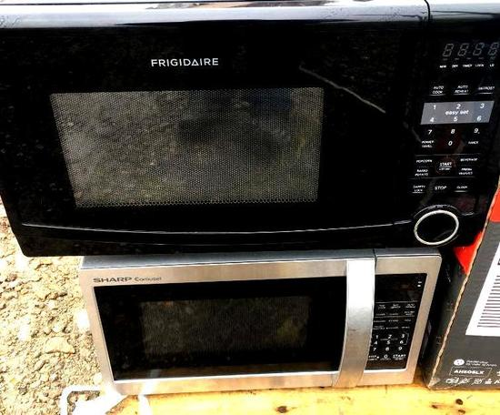 Two Used Microwaves - Frigidaire and Sharp