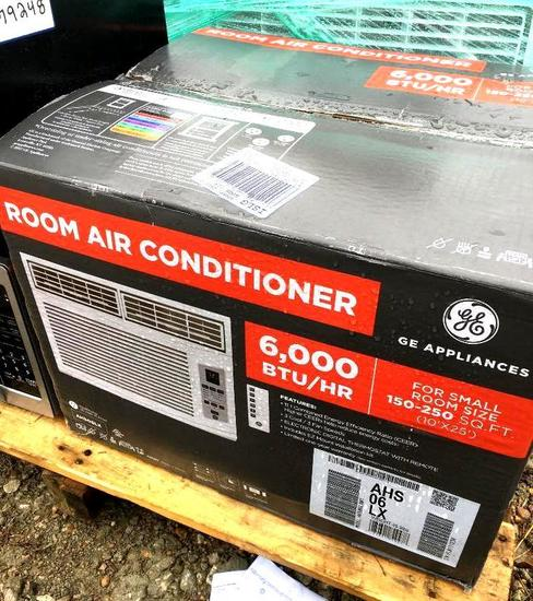 Two GE Room Air Conditioners- 6,000 BTU & 18,000 BTU