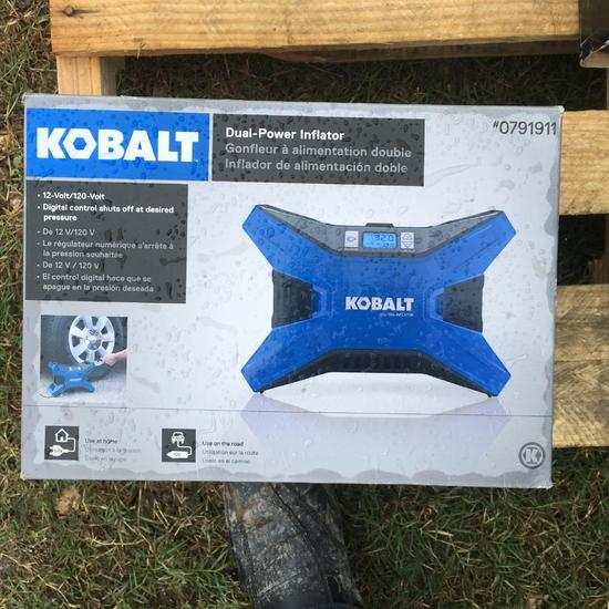 Kobalt - Dual Power Inflator - Digital control shuts off at desired pressure