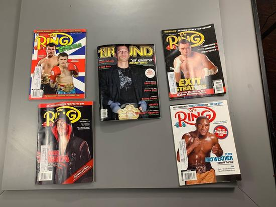 Qty of 5 vintage boxing magazines