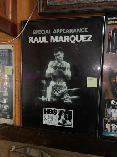 Raul Marquez framed poster