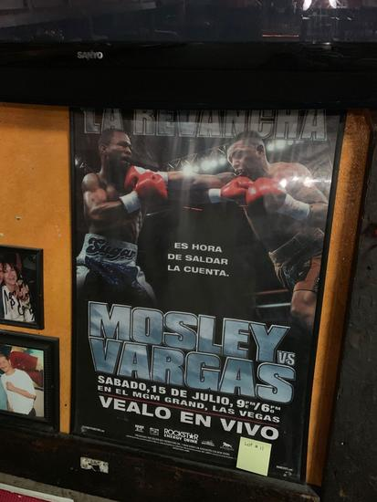 La Revancha Mosley VS Vargas Fight Poster