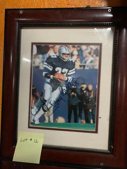 Signed #33 Tony Dorsett Photo