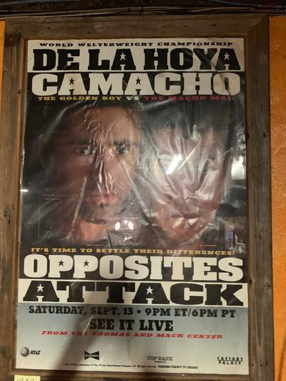 De La Hoya vs Camacho Fight Poster