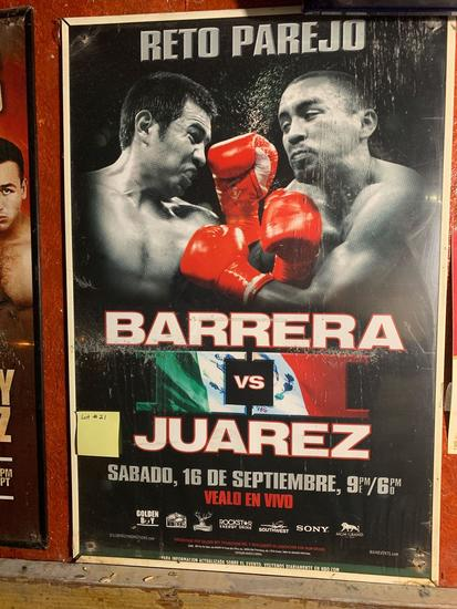 Barrera vs Juarez Promo Poster