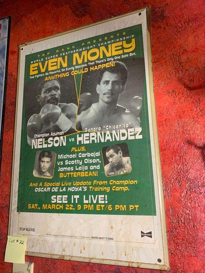 Even Money World Featherweight Championship Promo Poster
