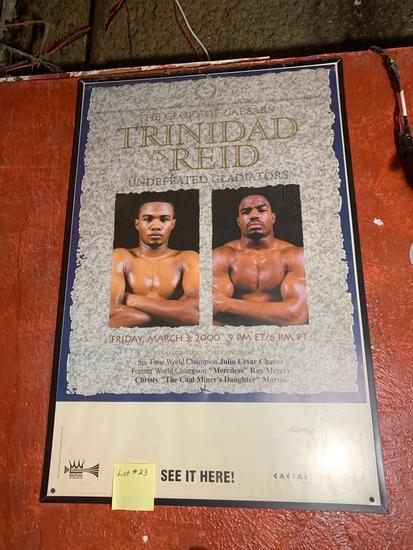Trinidad vs Reid Promo Poster