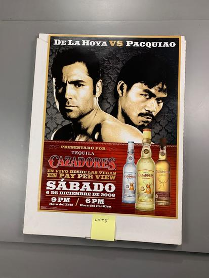 Unopened case of De La Hoya-Pacquiao Dec 2008 Cazadores Promotional Posters