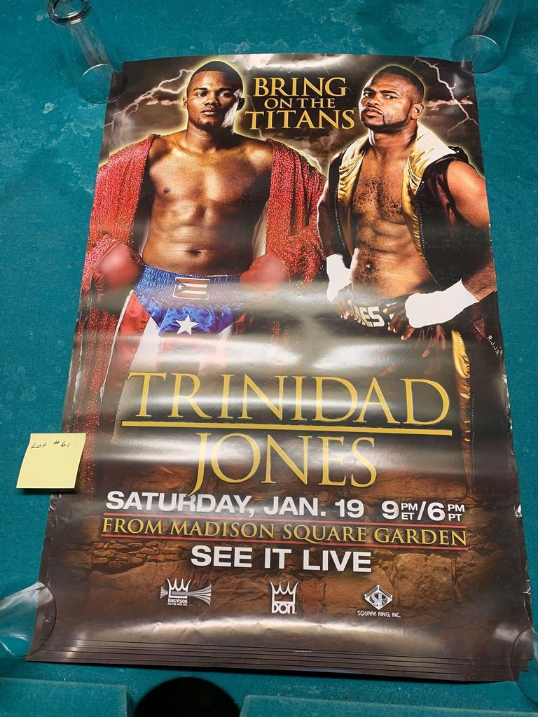 Lot: Trinidad vs Jones Boxing Posters Two sided, English and Spanish