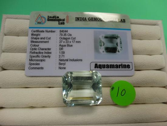 Awesome 79.35 Carats Aquamarine Loose Gemstone