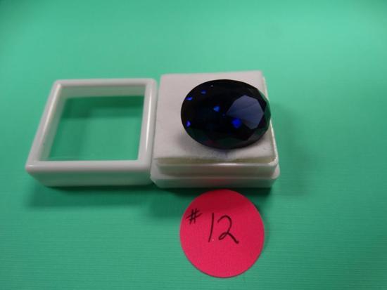 High Quality AAAAA+ Loose Oval Shape Deep Blue Tanzanite Loose Gemstone