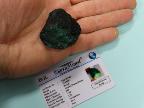 284.50 Ct. Rough Natural Emerald