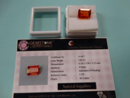 Fine 5.85 Ct. Natural Sapphire