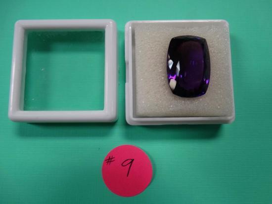 High Quality 20.45 Carats Cushion Cut Deep Purple Amethyst Certified Gemstone