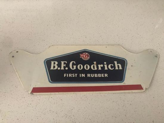 BF Goodrich 1870 metal sign