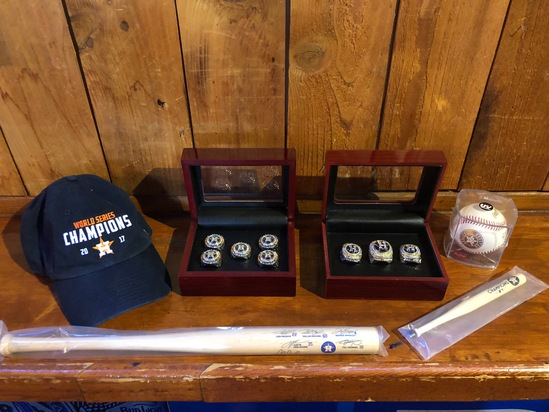 Astros memorabilia 2017 World Series Collectables