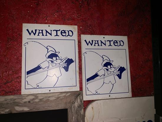 2 Daffy Duck Wanted Signs