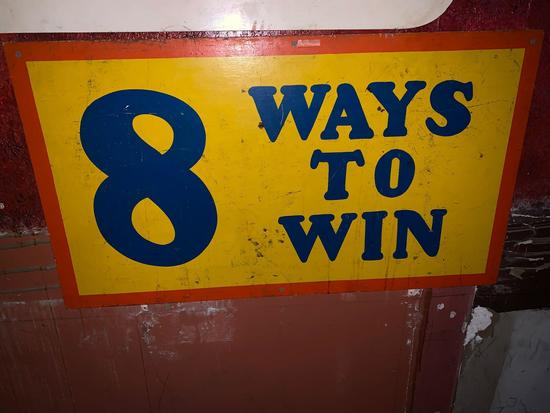 8 Ways To Win Sign