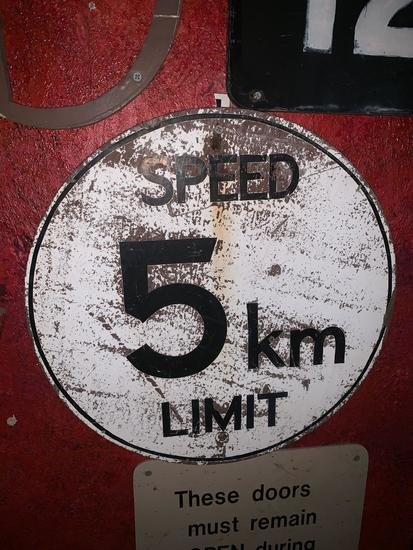5 km Speed Limit Sign