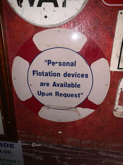 Flotation devices Available Sign