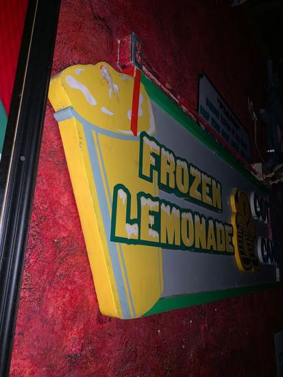 Frozen Lemonade and Cotton Candy Sign