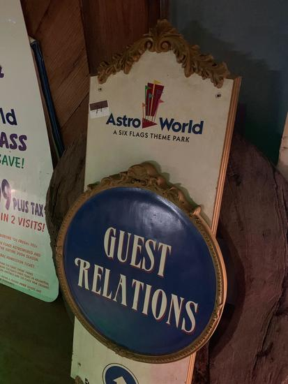 AstroWorld Guest Relations Sign