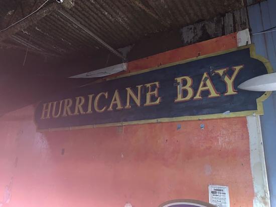 Hurricane Bay Wood Sign