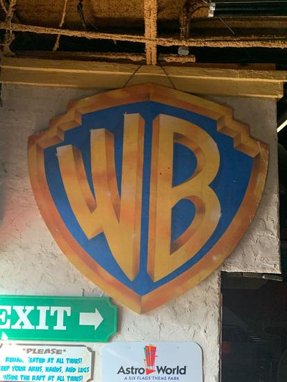 Warner Brothers WB Wood Sign
