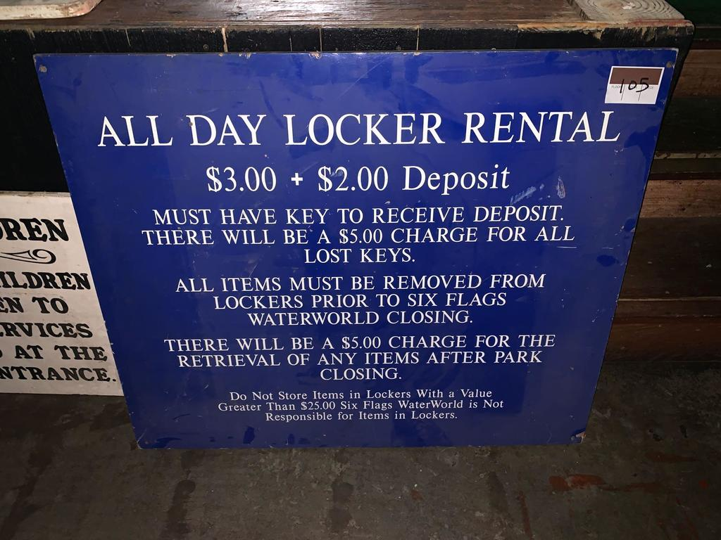Locker Room Rental Sign